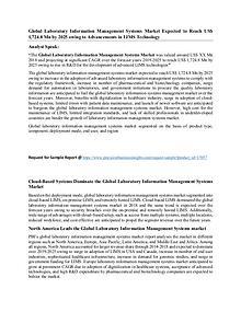 Laboratory Information Management Systems Market
