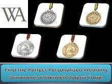 Find the Perfect Personalized Wedding Ornament at Wendell August Forg