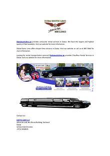Limousine Rental Services in Dubai