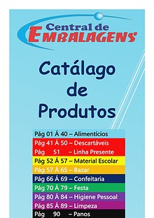 Catálago Central de Embalagens