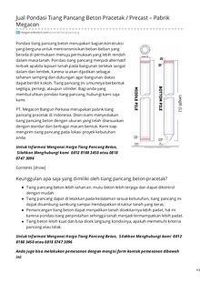 Distributor & Supplier Beton Pracetak - MegaconBeton.com
