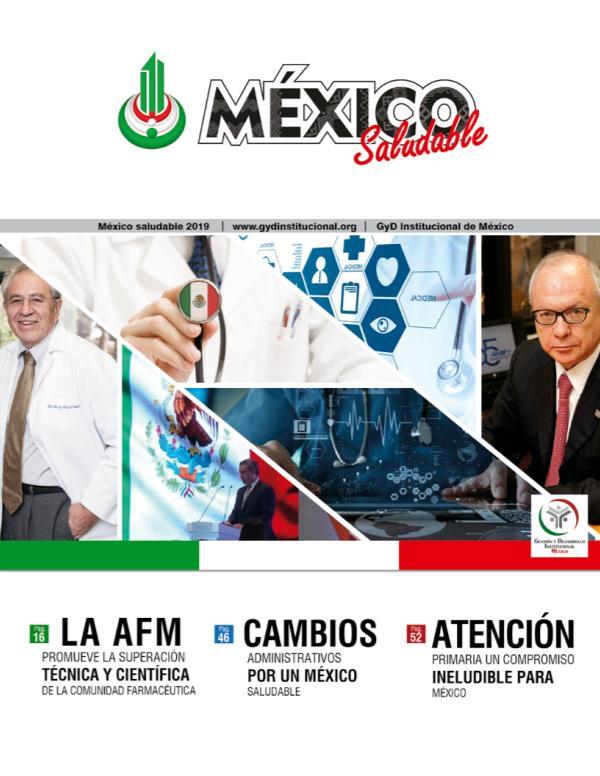 REVISTA MÉXICO SALUDABLE 2019 REVISTA MÉXICO SALUDABLE