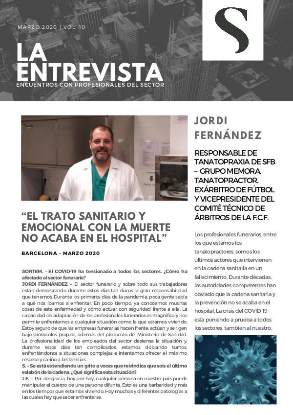 Entrevista a Jordi Fernández Entrevista a Jordi Fernández