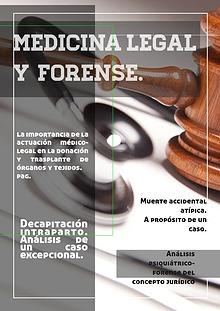 Medicina legal y forense