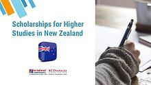 Scholarships for Higher Studies in New Zealand
