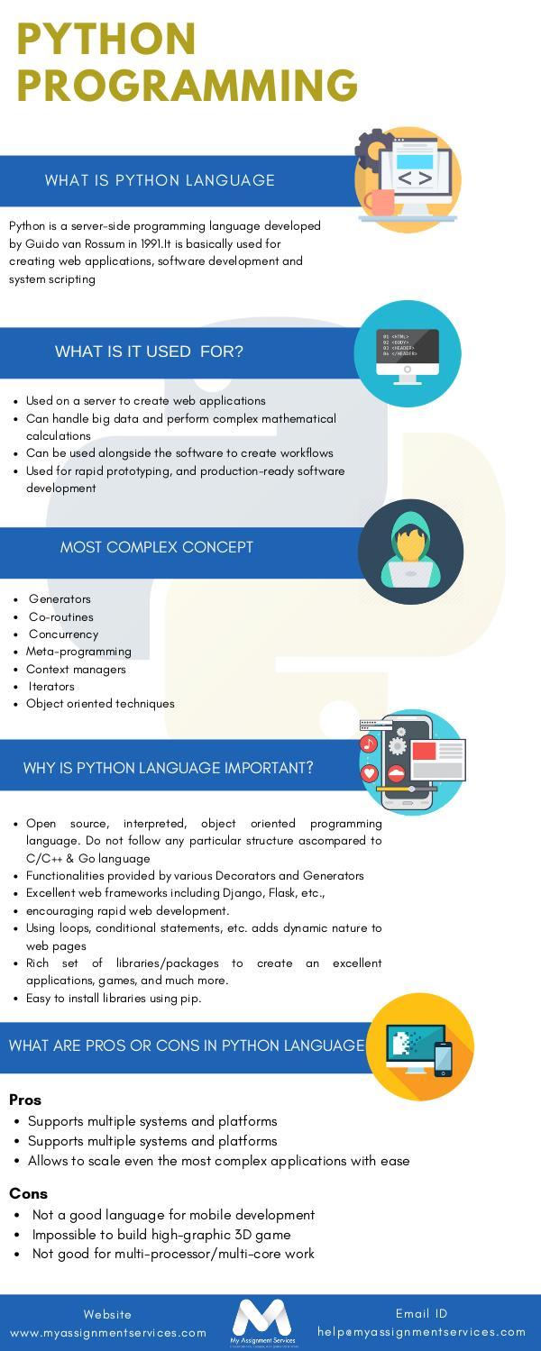 Python programming Infographics