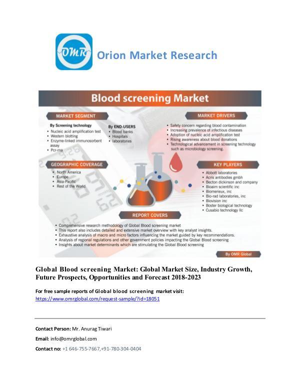 Global Blood screening, Forecast, Market Analysis, Global Industry Si Blood Screening_Market