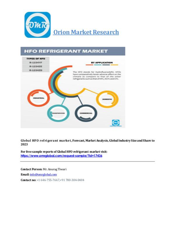 Global hfo refrigerant market industry size, global trends, growth, o HFO_Market