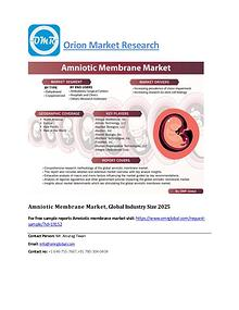 Amniotic Membrane Market, Global Industry Size 2025