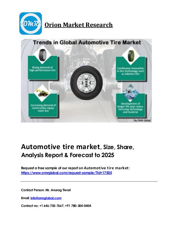 Automotive tire market Industry Size, Growth & Forecast to 2023 Automotive tire PDF file...