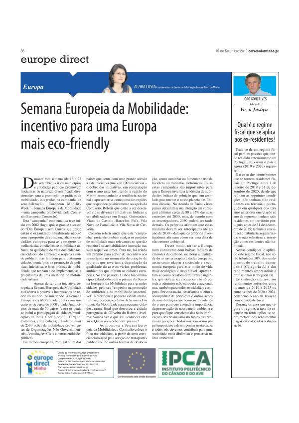 artigo opinião 19 set artigo opinião 19 setembro - Correio do Minho