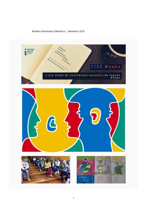 Newsletter Setembro 2019 Boletim Informativo Eletrónico - Setembro 2019 - Final