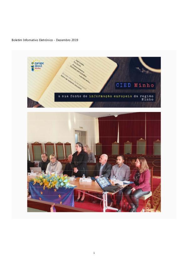 Newsletter Mensal dezembro 2019 Boletim Informativo Eletrónico - Dezembro 2019