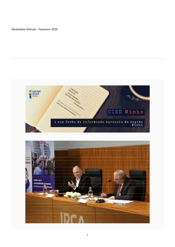 Newsletter Mensal Fevereiro 2020 Boletim Informativo Eletronico - Fevereiro 2020