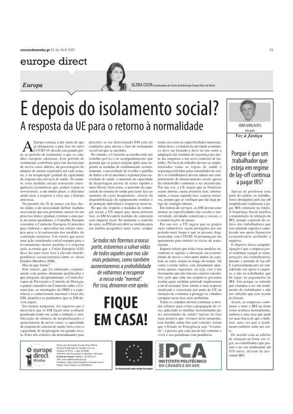 Artigo Opinião - 30 abril artigo opiniao - 30 abril