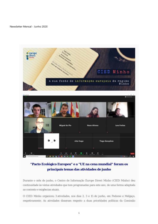 Boletim Informativo Eletronico - Junho 2020