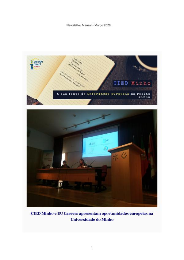 Boletim Informativo Eletronico - março 2020