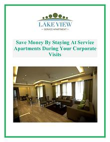 Save Money By Staying At Service Apartments