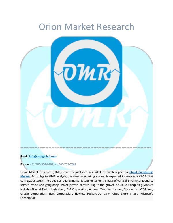 Orion Market Research Report Cloud Computing Market