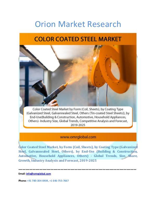 Color Coated Steel Market
