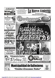 LA NUEVA LINTERNA  - EDICIÓN 163 - SEPTIEMBRE 2019
