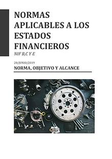 NORMAS APLICABLES  A LOS ESTADOS FINANCIEROS