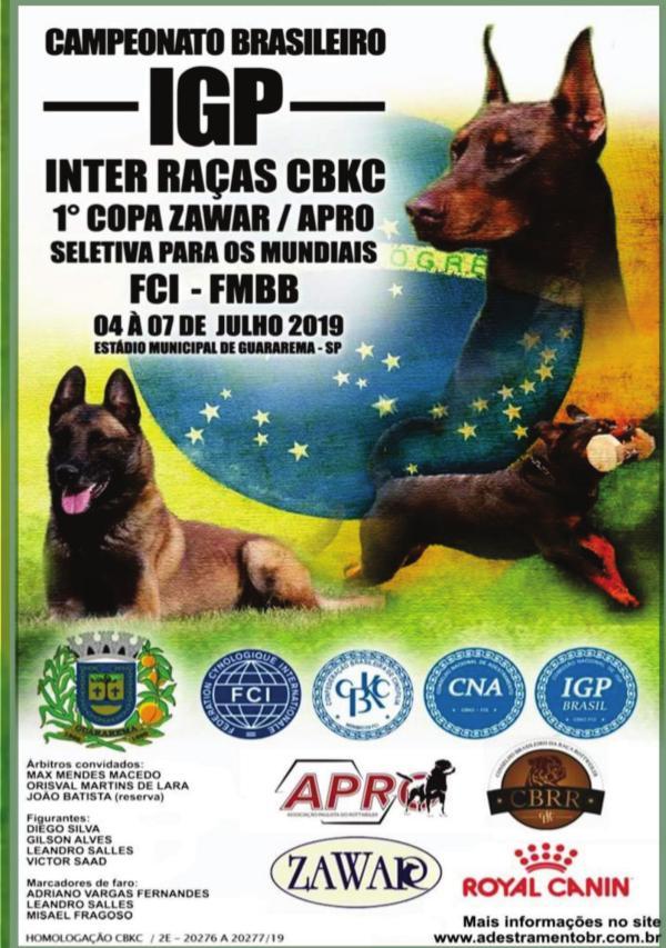 COPA ZAWAR / CAMPEONATO BRASILEIRO DE ADESTRAMENTO Catalogo online