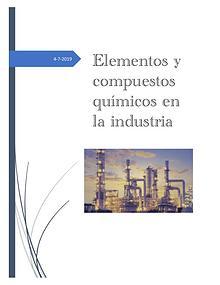 Elementos quimicos en la industria