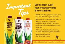 Tips for Aloe Vera drinkers!