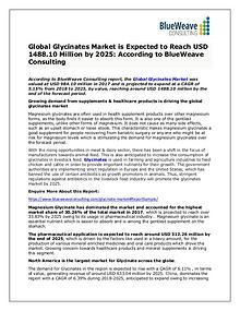 Glycinates Market Growth, Types, Application ,Trends &Forecast 2025