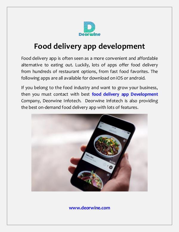 Food delivery app development Food delivery app development