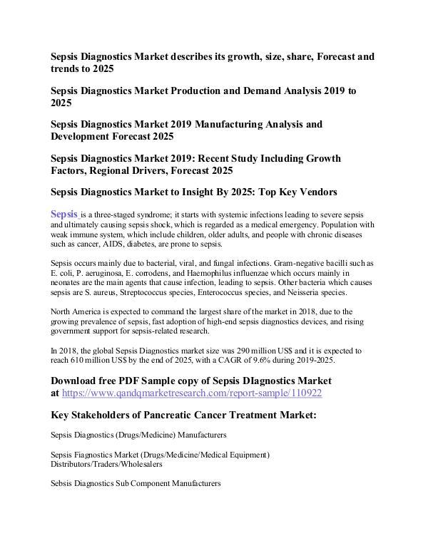 Sepsis Diagnostics Sepsis Diagnostics Market