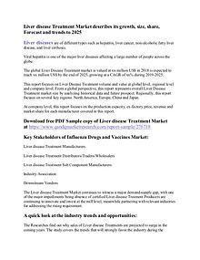 Liver Disease Treatment Market
