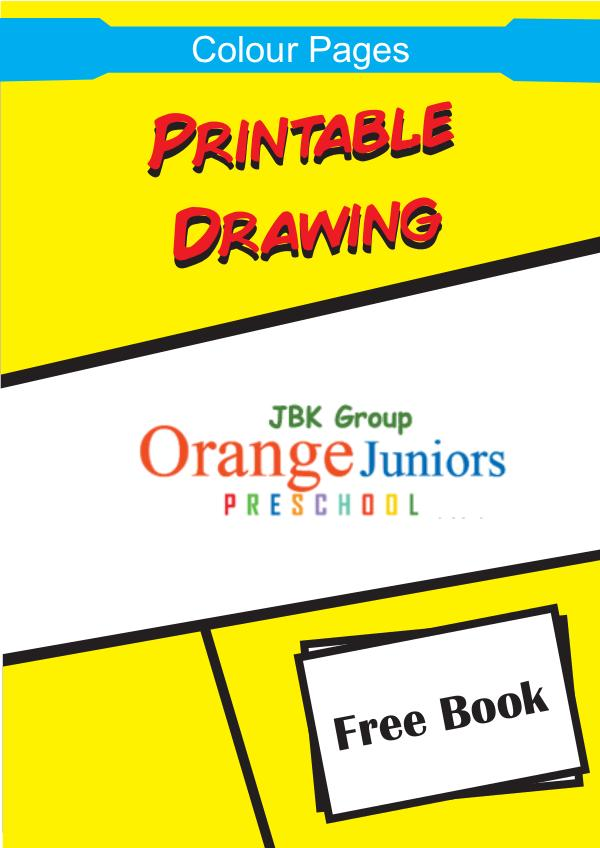Cartoon Printable Color Pages for Children, Preschoolers and Kids Volume 1