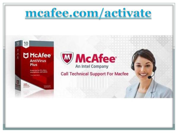 McAfee Activate - Mcafee Product Activation