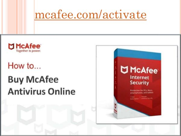 mcafee.comactivate How to Buy McAfee Antivirus Onl