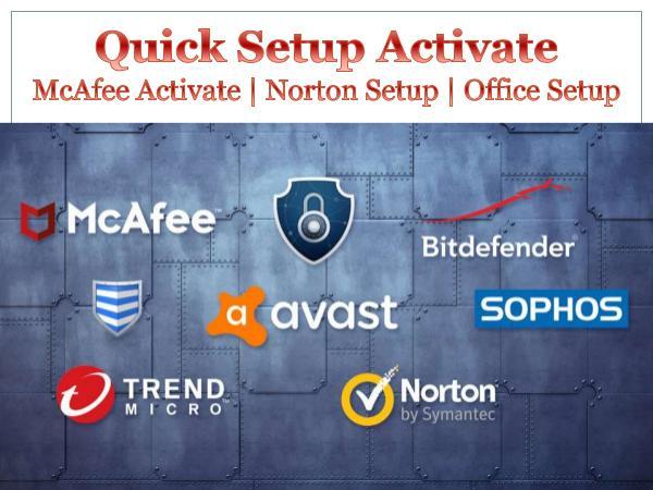 Quick Setup Activate   Mcafee   Norton   Office