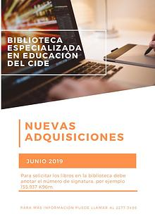 Nuevas adquisiciones - Junio 2019