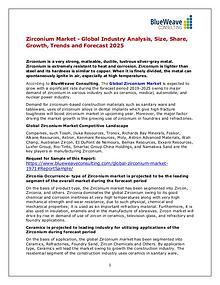 Zirconium Market - Global Industry Analysis, Size, Share &Trends 2025