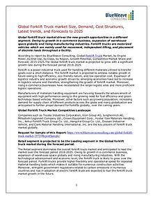Forklift Truck  Market Insights, Trends, Outlook 2025