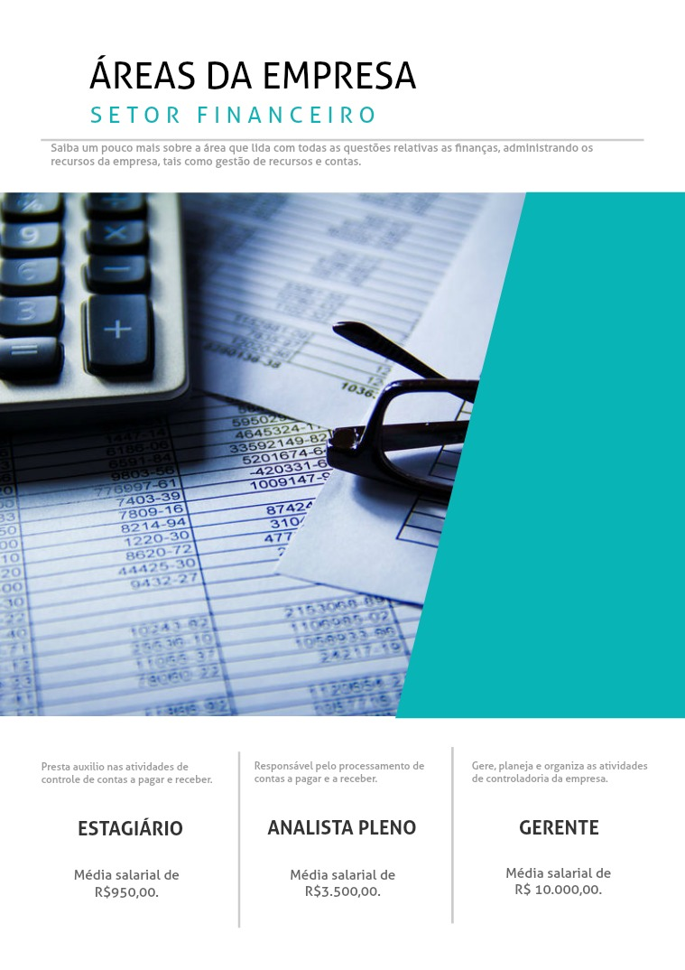 Activities ÁREAS DA EMPRESA: Financeiro