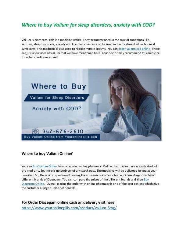 Where to buy valium for sleep disorders Where to buy Valium for sleep disorders
