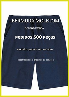 Bermuda de moletom