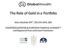 Is there a role for gold in a portfolio?