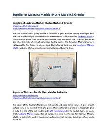 Supplier of Makrana Marble Bhutra Marble & Granite