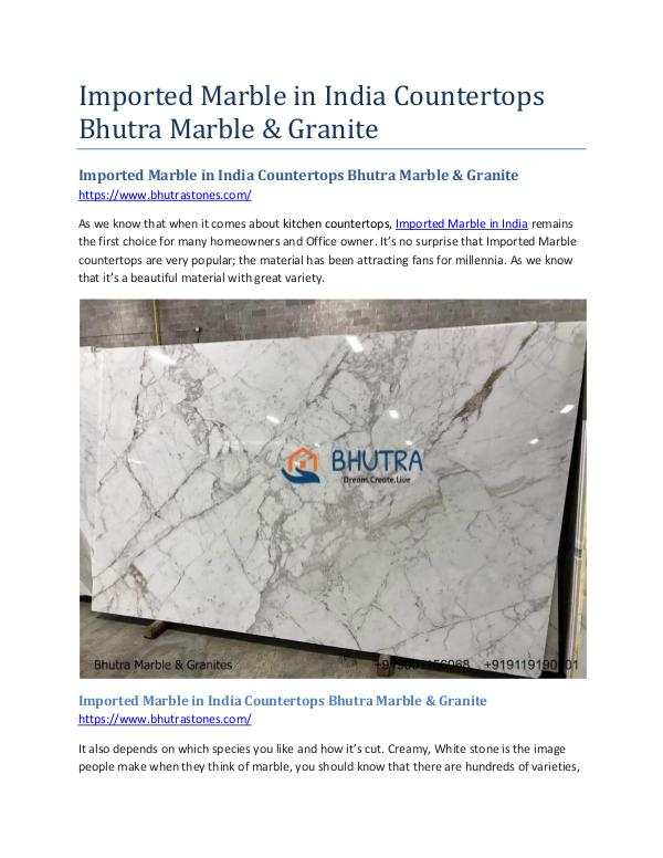 Imported Marble in India Countertops Bhutra Marble & Granite Imported Marble in India Countertops Bhutra Marble