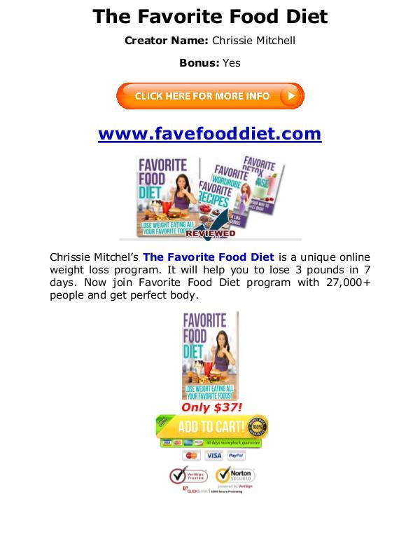 (PDF) Favorite Food Diet Chrissie Mitchell Book PDF Free Download Chrissie Mitchell eBook