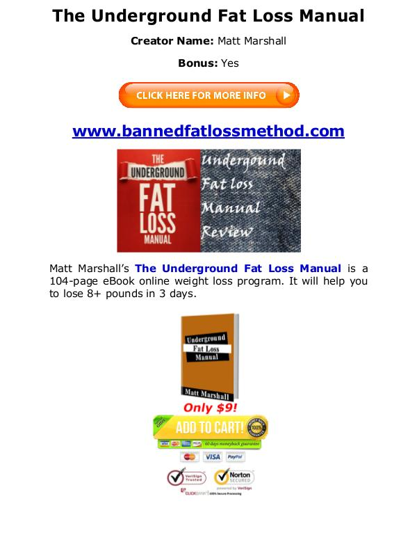 (PDF) Underground Fat Loss Manual Matt Marshall PDF Free Download Matt Marshall eBook