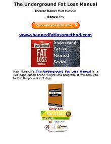 (PDF) Underground Fat Loss Manual Matt Marshall PDF Free Download