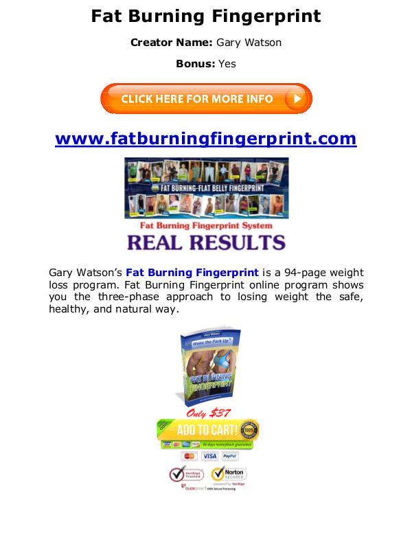 (PDF) Fat Burning Fingerprint Program Diet PDF Free Download Gary Watson eBook